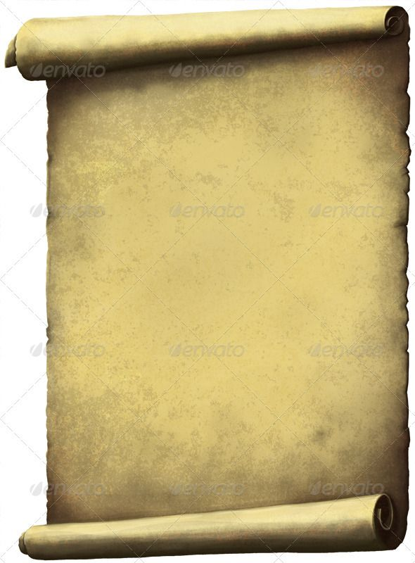 3d Scroll Of Parchment Photo: Old Scroll Paper