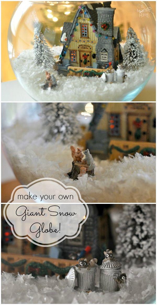 Make Your Own Giant Snow Globe Christmas Snow Globes Diy Snow