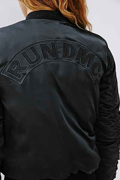 850a99f57e78 Blue RUN DMC Bomber Jacket by Adidas    WestCoastClothingCo.com ...