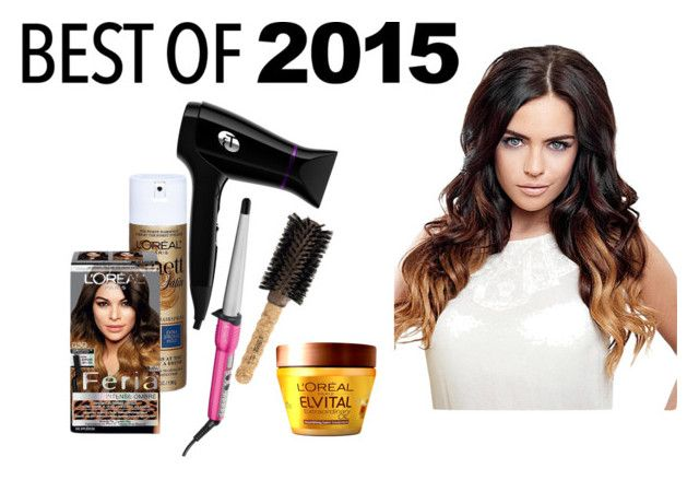 """""""Best of 2015: Hairstyle of the Year"""" by vale14m ❤ liked on Polyvore featuring beauty, Conair, T3, Ibiza Hair, L'Oréal Paris and bestof2015"""