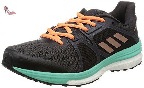 adidas Supernova Sequence 9, Chaussures de Running Entrainement Femme, Noir  (Neguti/oxmete