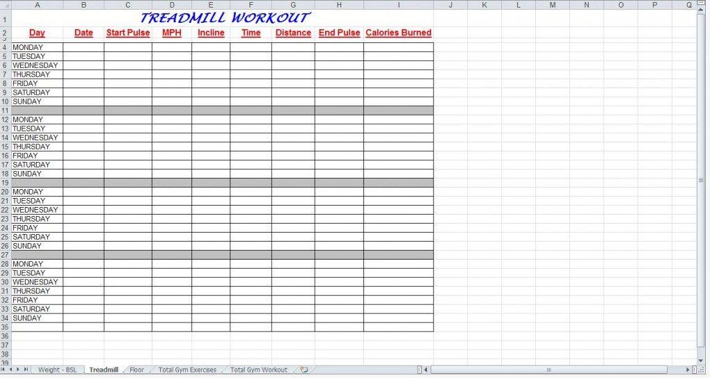 Blank Workout Sheet Free Printable Workout Log And Blank Workout