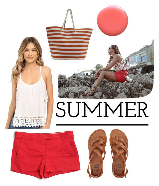 """""""Summer on the Boardwalk"""" by justanotherjolly on Polyvore featuring Rebecca Minkoff, Theory, Billabong, Rip Curl and Lauren B. Beauty"""