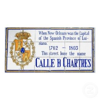 Info- French Quarter Spanish Tile Murals: Rue Chartres Tile Mural New Orleans
