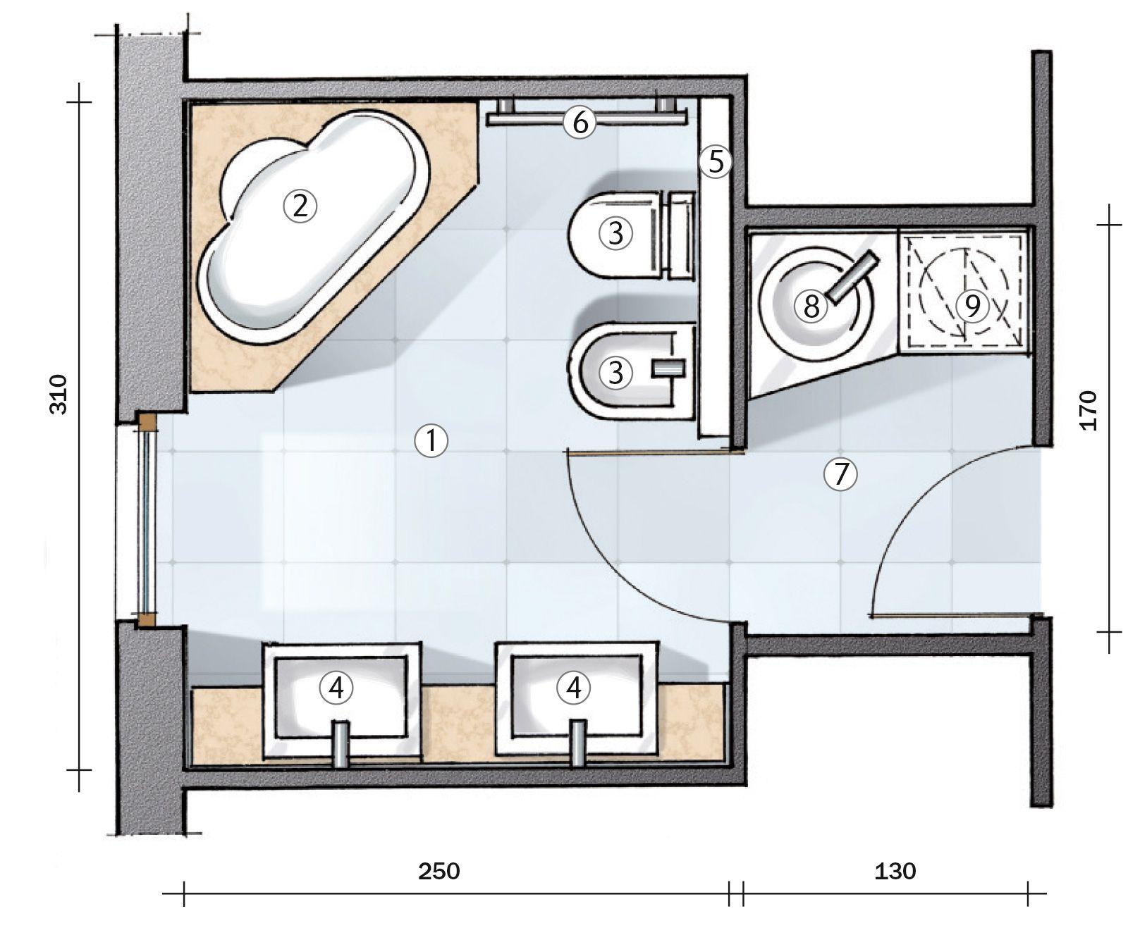 progetto bagno piccolo con lavatrice - Cerca con Google  Casa  Pinterest  Shabby chic ...