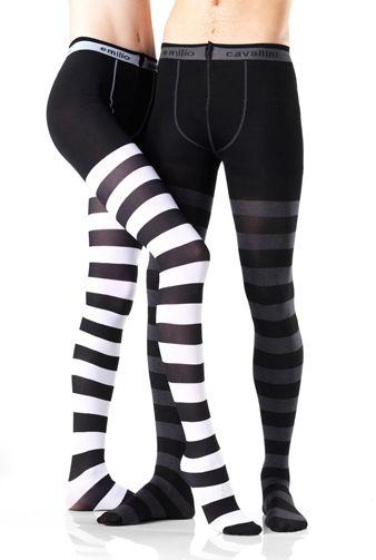 504b5e7a87f2c EMILIO CAVALLINI HORIZONTAL STRIPES OPAQUE TIGHTS   legs   Women's ...