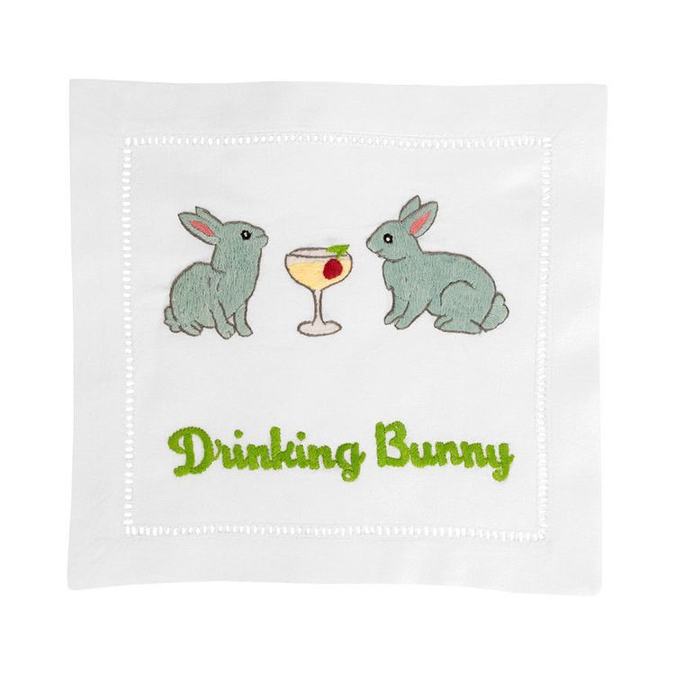 Embroidered Cocktail Napkins