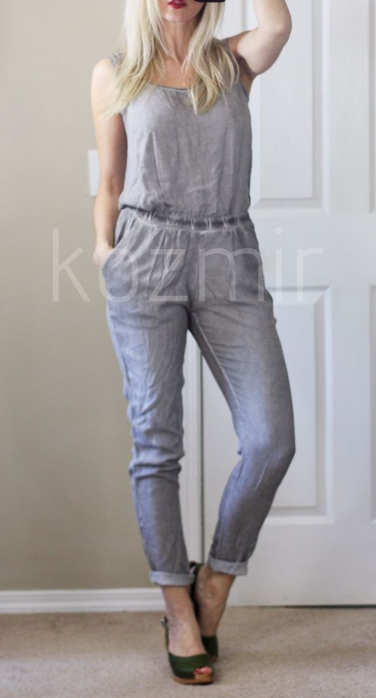 15a4bb2238e Anthropologie Jumpsuit CLOTH   STONE GRAY JUMPSUIT Chambray One Piece XS  NWOT  ClothStone  Jumpsuit