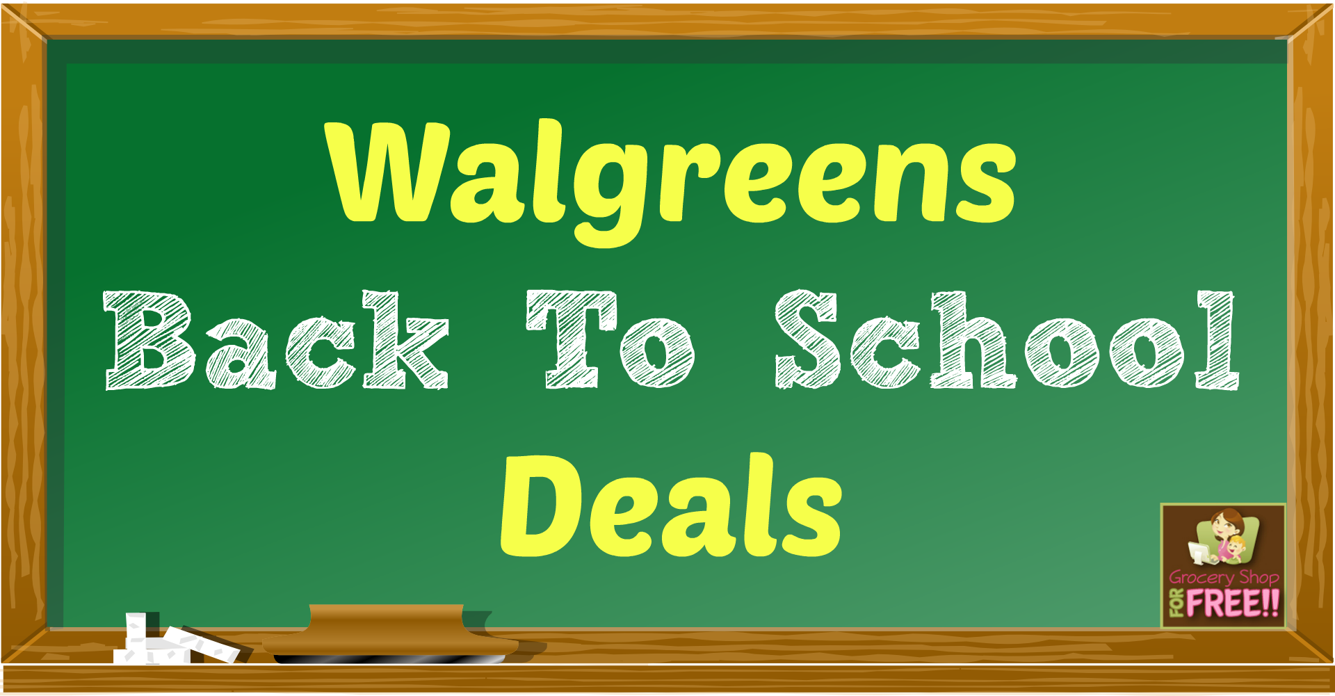 Walgreens Back To School ofertas! Back to school deals