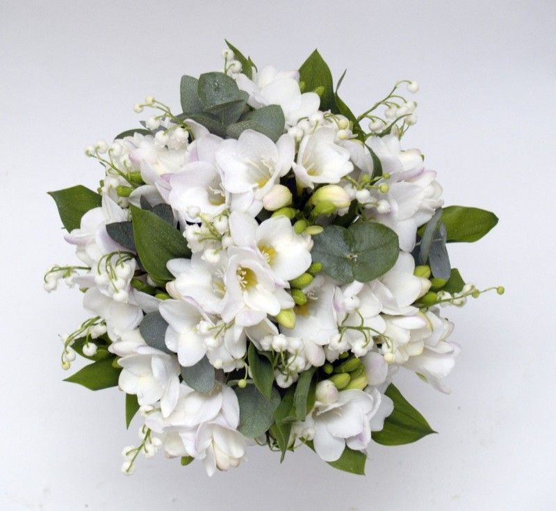 Lily Of The Valley Wedding Flowers: Freesia & Lily Of The Valley Bridal Bouquet