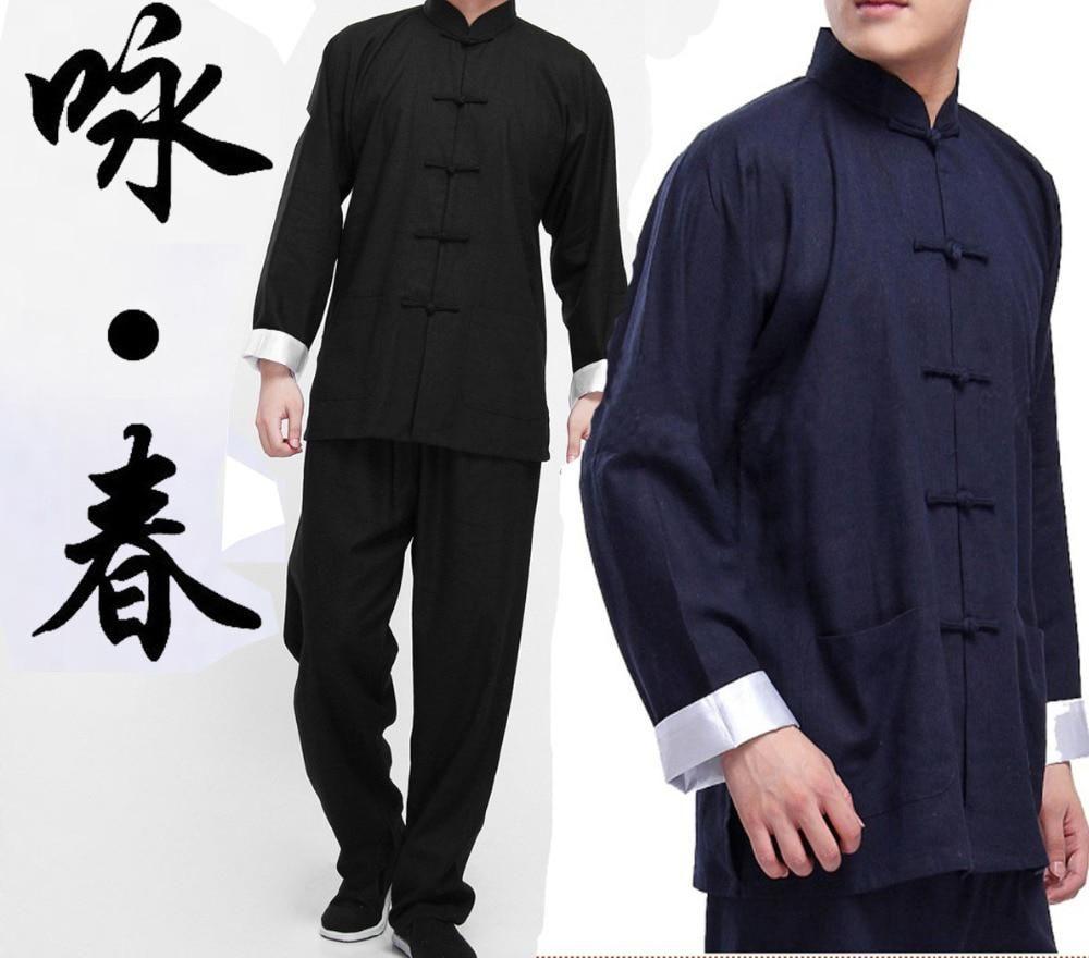 Shaolin monk suits wing chun kung fu martial arts uniforms clothes clothing set