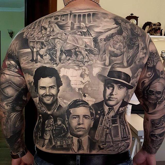 Insane Black And Grey Tattoos By Eduard Virlan Gangster Tattoos Black And Grey Tattoos Gangsta Tattoos
