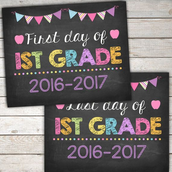 image about First Day of 1st Grade Printable known as 1st Working day and Remaining Working day of 1st Quality Indicator 8x10 via