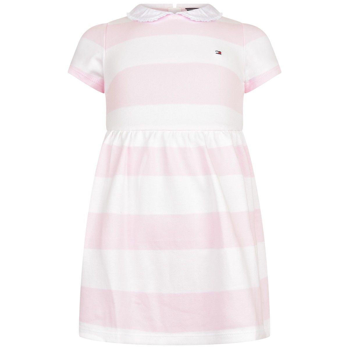 tommy hilfiger baby girls pink striped rugby dress with knickers