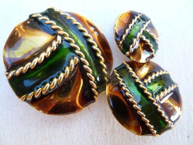 Bottone Gioiello Vintage Oro Verde Topazio Button Bouton Couture Ebay Buttons Vintage Jewels Green Topaz