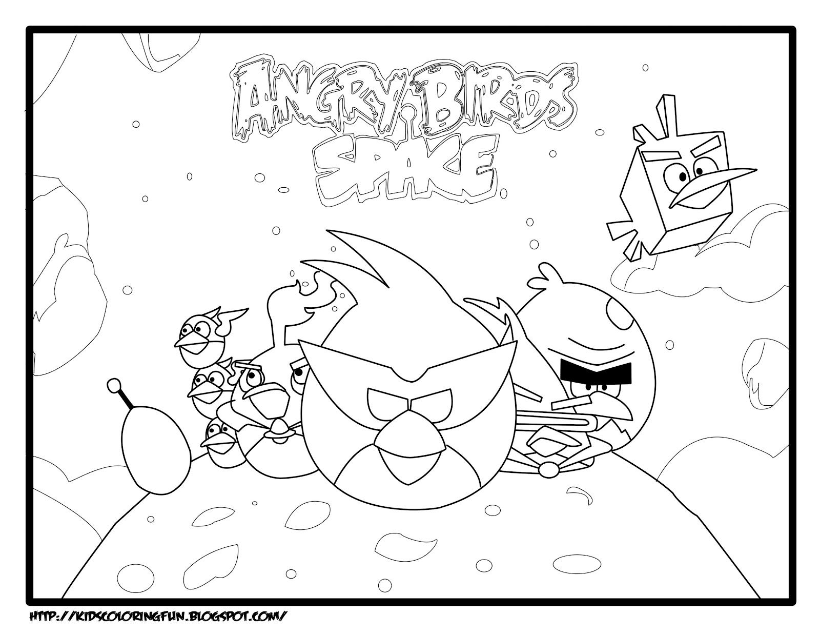 Free Angry Birds Space Coloring Pages Printable