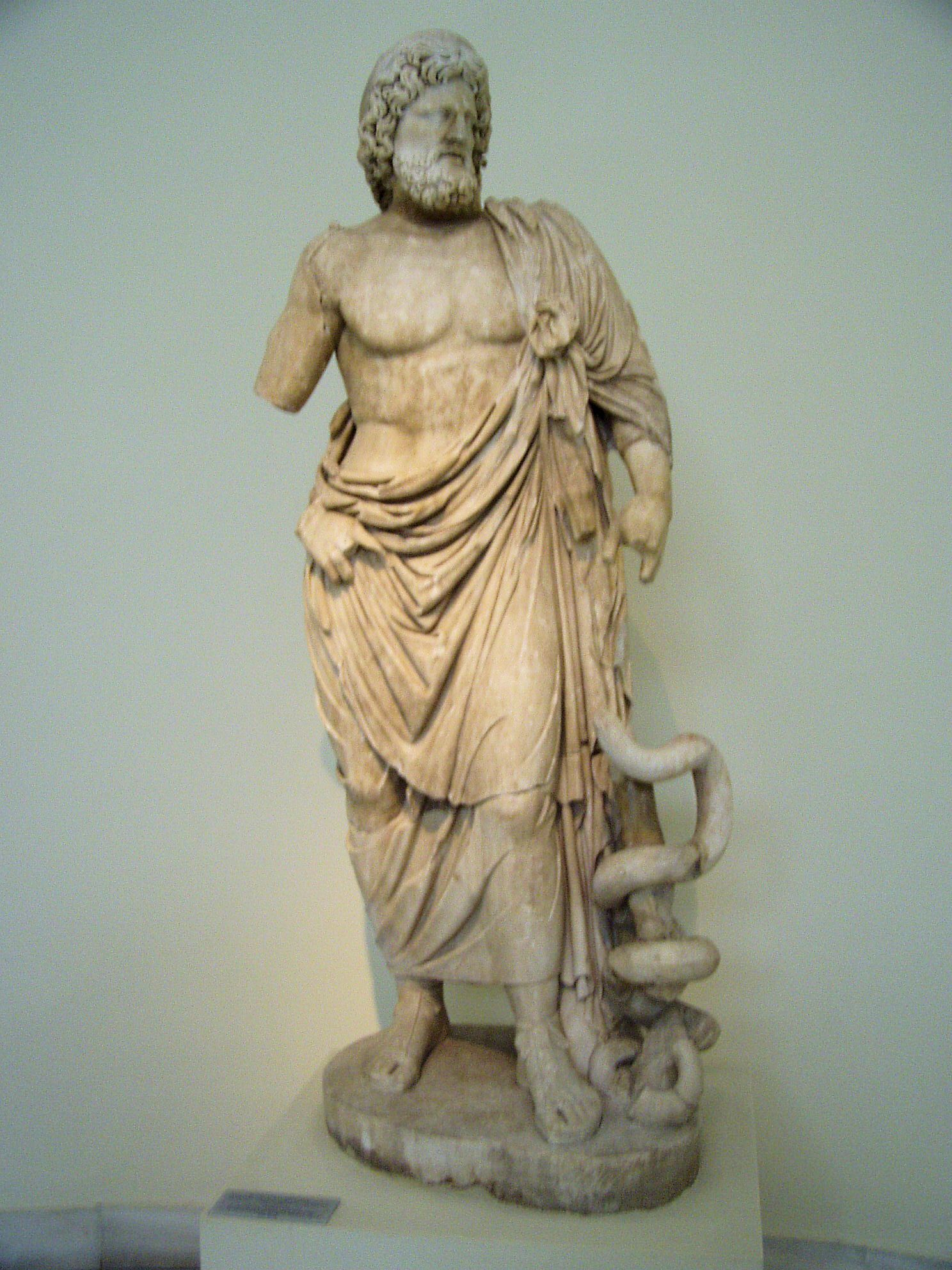 Greek mythology gods sculpture statue of asclepius the greek greek mythology gods sculpture statue of asclepius the greek god of medicine from buycottarizona Gallery