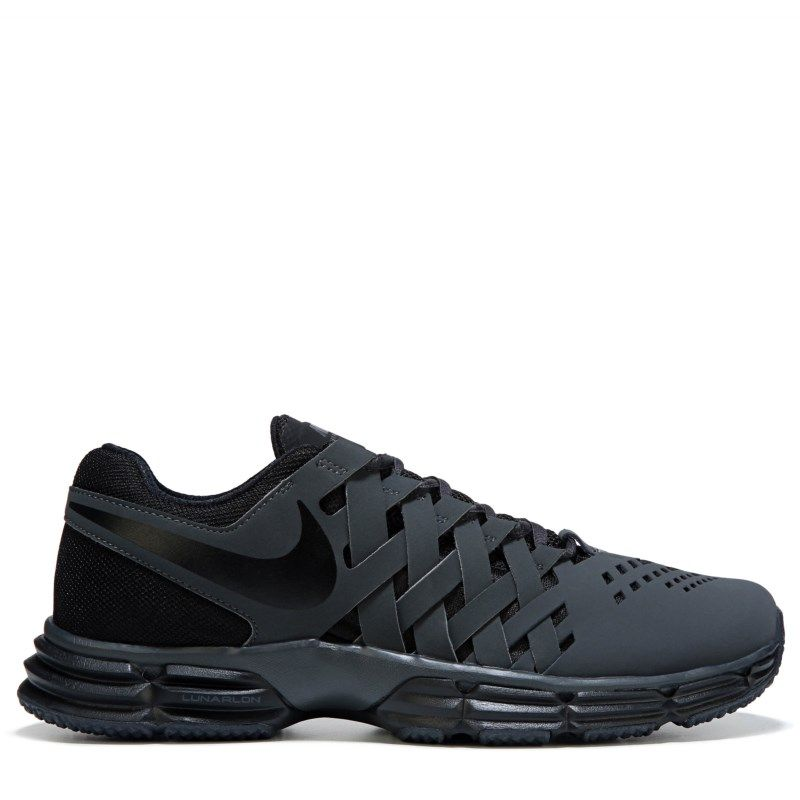 Nike Men s Lunar Fingertrap TR X-Wide Training Shoes (Grey Black) 9bbfb475e6e98