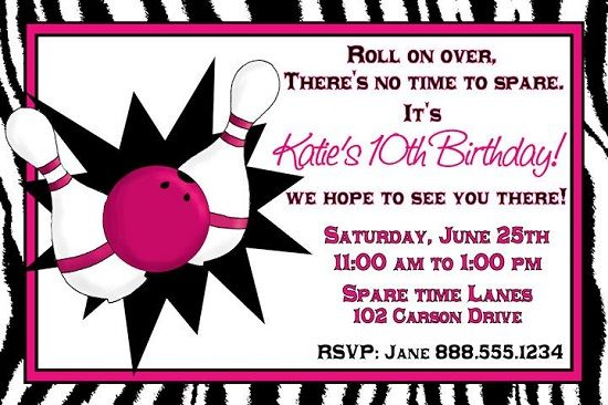 Download Now Bowling Birthday Party Invitations Ideas  Free
