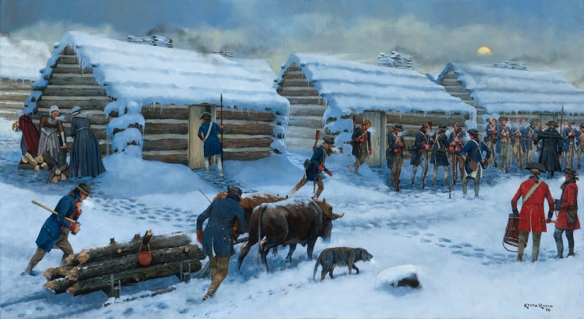 Continental army at Valley Forge- by Keith Rocco