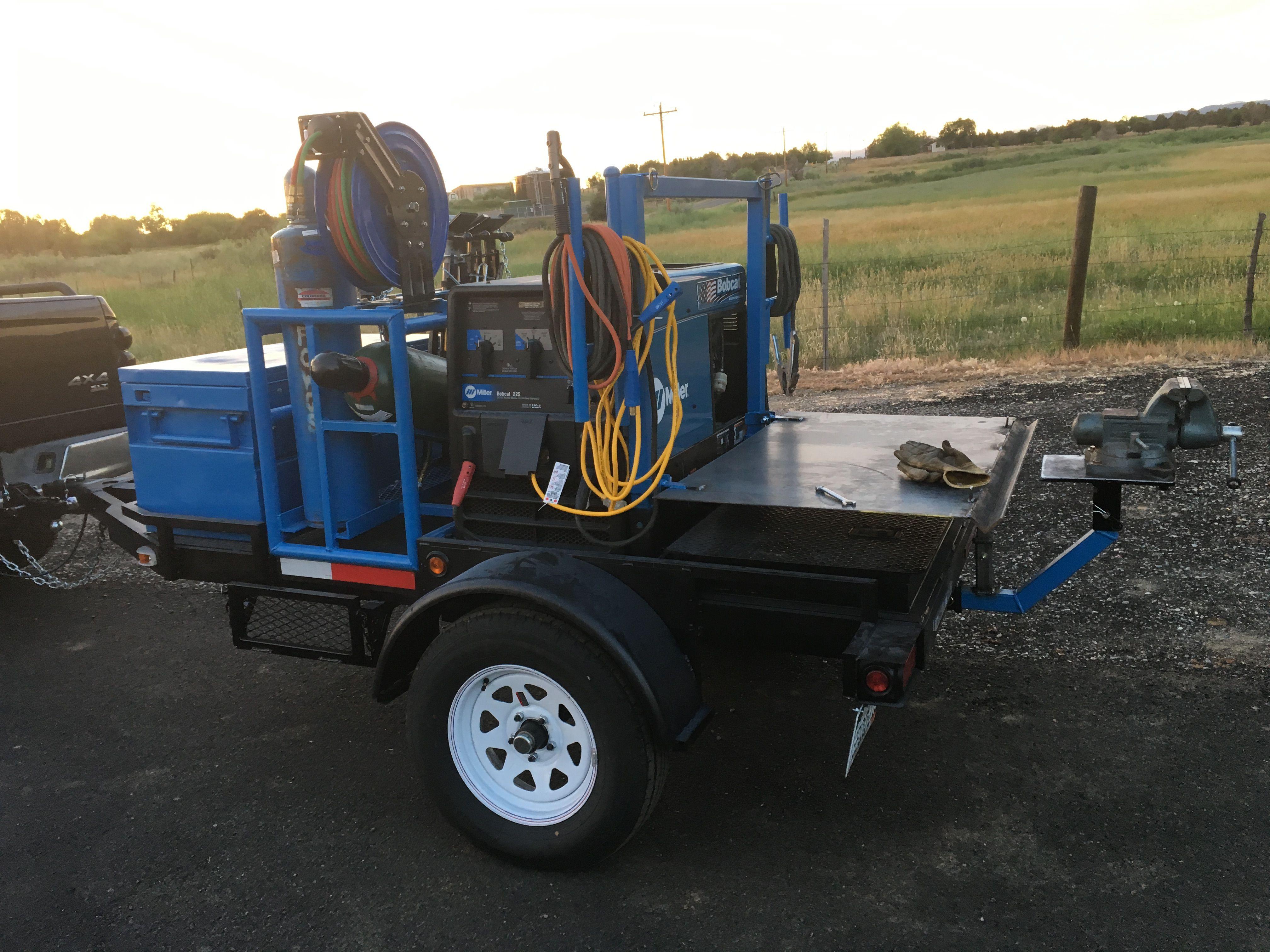 Homemade welding trailer Welding trailer, Welding