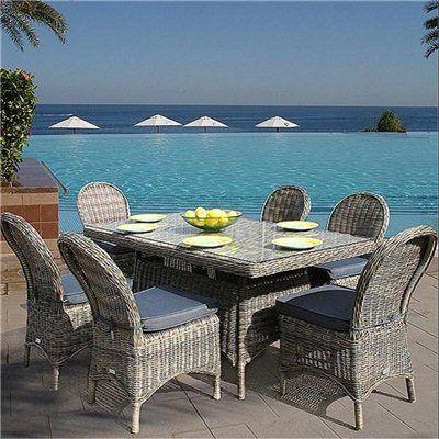 Bridgman Mayfair Rectangular 6 Seater Rattan Furniture Set - Garden Furniture Sets - RedShed