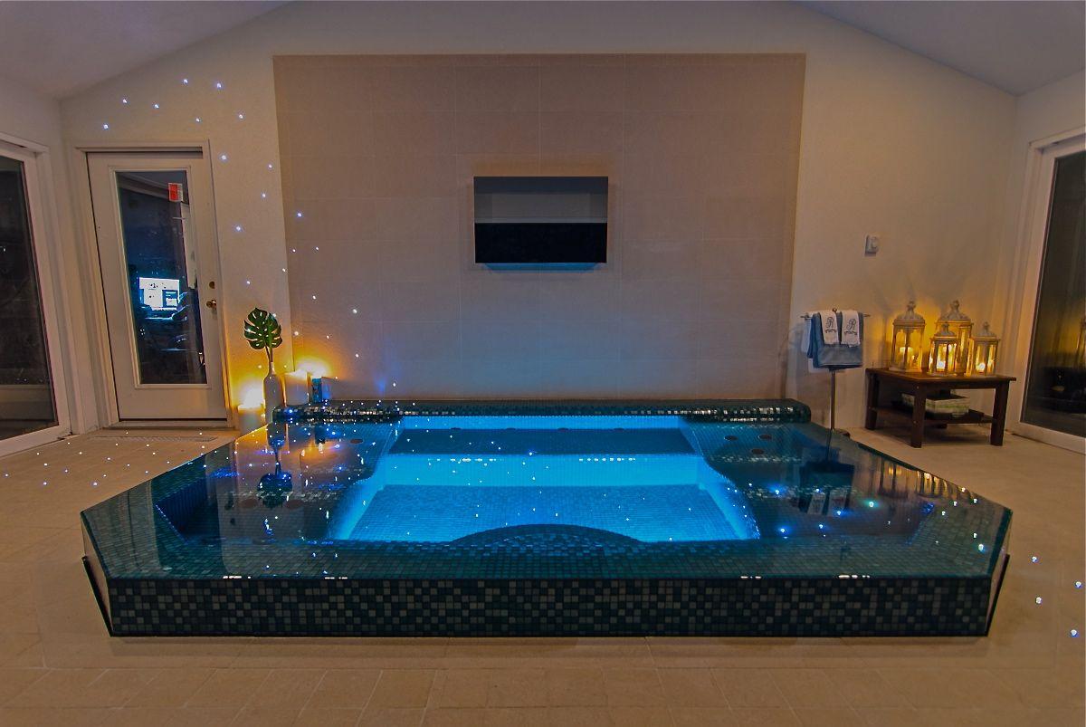 Rev run indoor pool celebrity homes pinterest indoor for Swimming pool room ideas