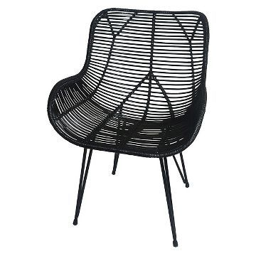 Admirable Wicker Accent Chair Black Threshold Home Decor Ocoug Best Dining Table And Chair Ideas Images Ocougorg