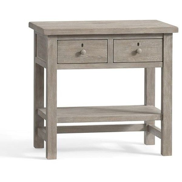 Pottery Barn Farmhouse Bedside Table 449 Liked On Polyvore Featuring Home Furniture Storage Shelves Nightstands Pottery Farmhouse Table Centerpieces Furniture Shaker Furniture