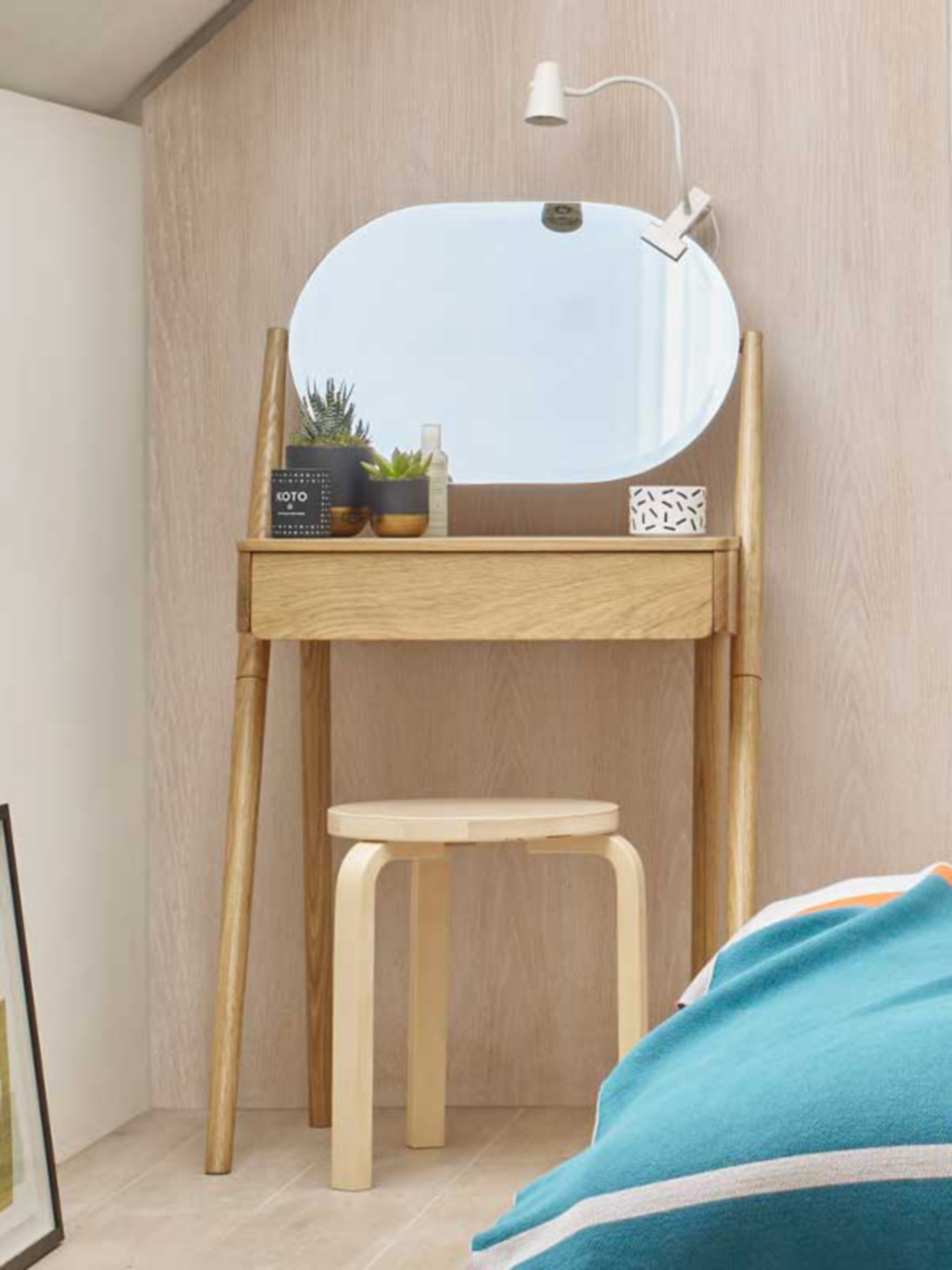 House by John Lewis Bow Dressing Table, Oak £299.00