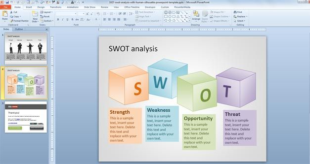 Swot Powerpoint Template Business Planning Powerpoint
