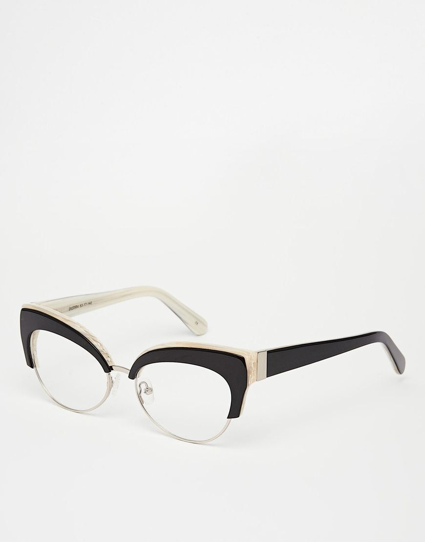 4bb54eeb8d Image 1 of ASOS Handmade Cat Eye Optical Glasses