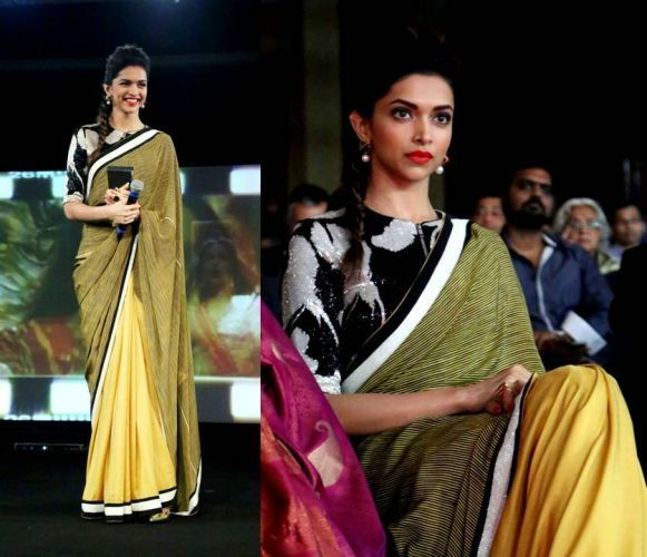 Deepika's Saree At The Indian Of The Year Awards 2014 ...