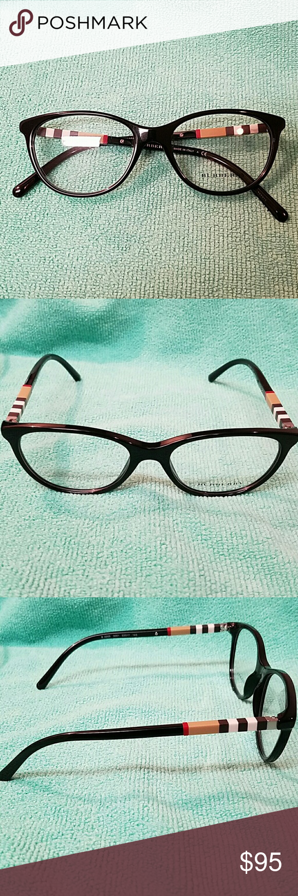 8d3610d612a8 Burberry B2205 3001 Eyeframe Black with burberry pattern. No case just  Eyeframe Burberry Accessories Glasses