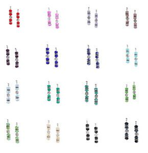 Crystal Earrings, Different Colours, Bridesmaid Earrings, Rhinestone and Crystal Jewellery, Wedding Jewellery by TheDaintyBoutique, £7.00