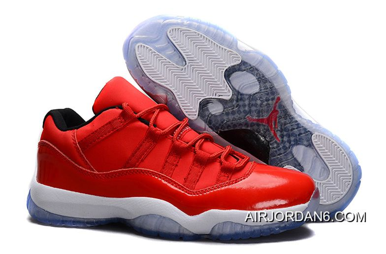 Big Discount 66 OFF Air Jordans 11 Retro Low Red PE Carmelo Anthony RedWhite For Sale