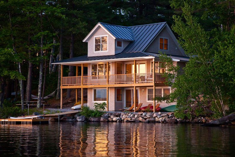 A Lake House In Maine With Wrap Around Porch Lake Houses