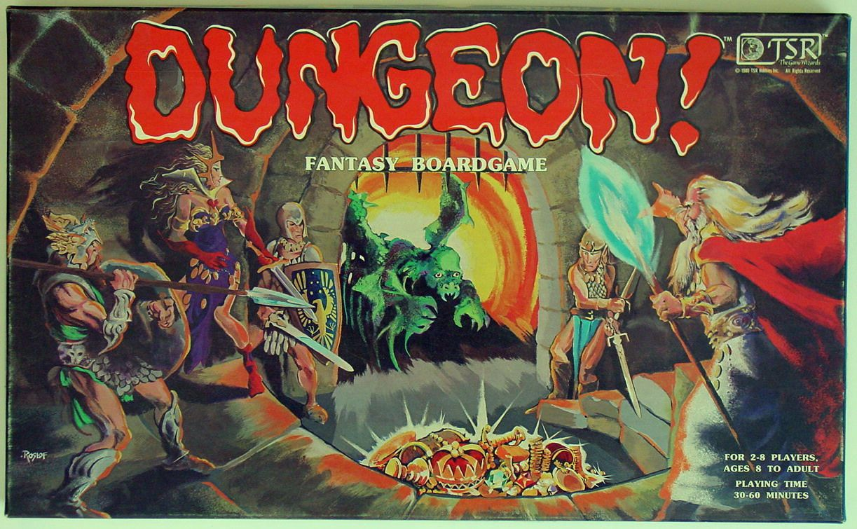 What's In That Game Box? DUNGEON! Fantasy Boardgame