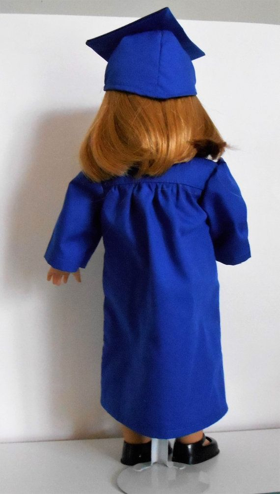 Royal Blue graduation cap and gown fits American Girl or boy   Cap ...