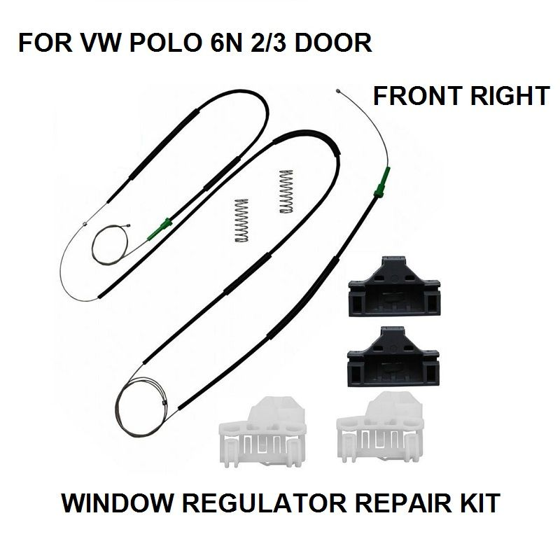Oe 6n3837462 Electric Window Regulator Repair Kit For Vw Polo 6n1 6n2 2 3 Door Front Right New Vw Polo Repair Replacement Parts