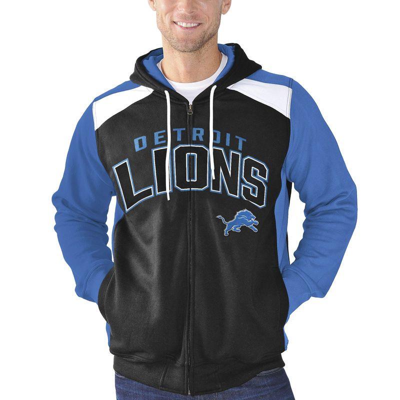 8e69ea93 Detroit Lions G-III Sports by Carl Banks Kickoff Full Zip Hoodie ...