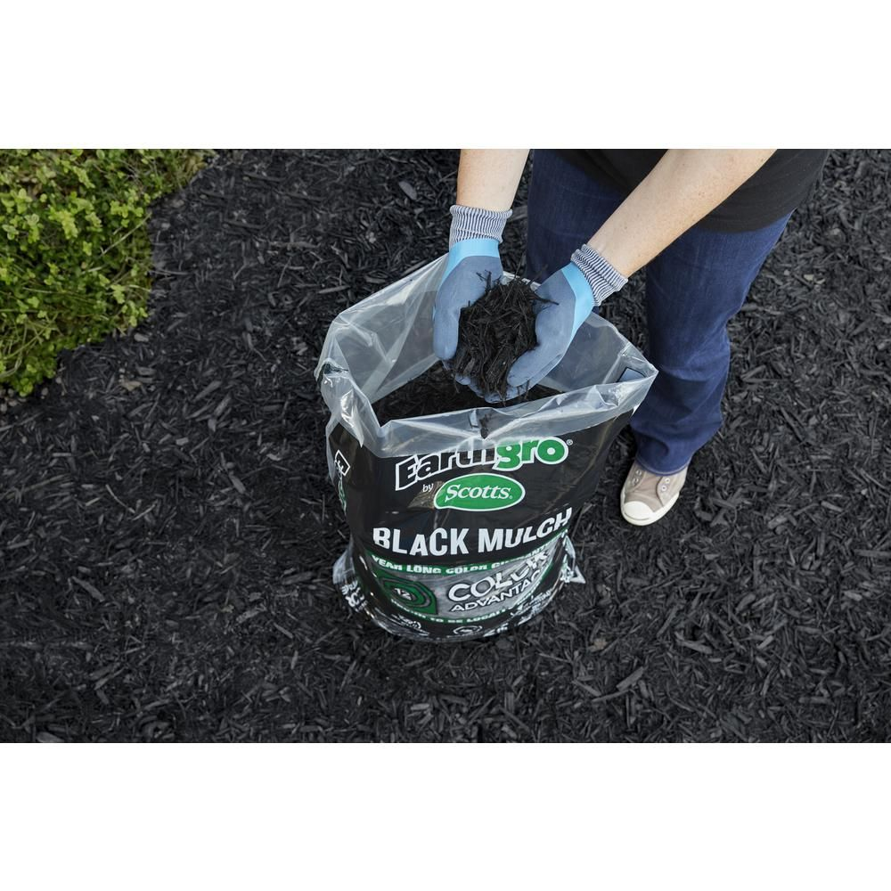 Earthgro 2 cu ft black mulch88552180 the home depot