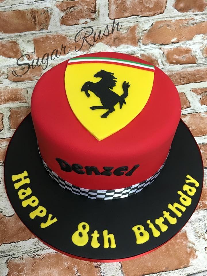 Ferrari Cake Torte Pinterest Ferrari Cake Cake And Birthday Cakes