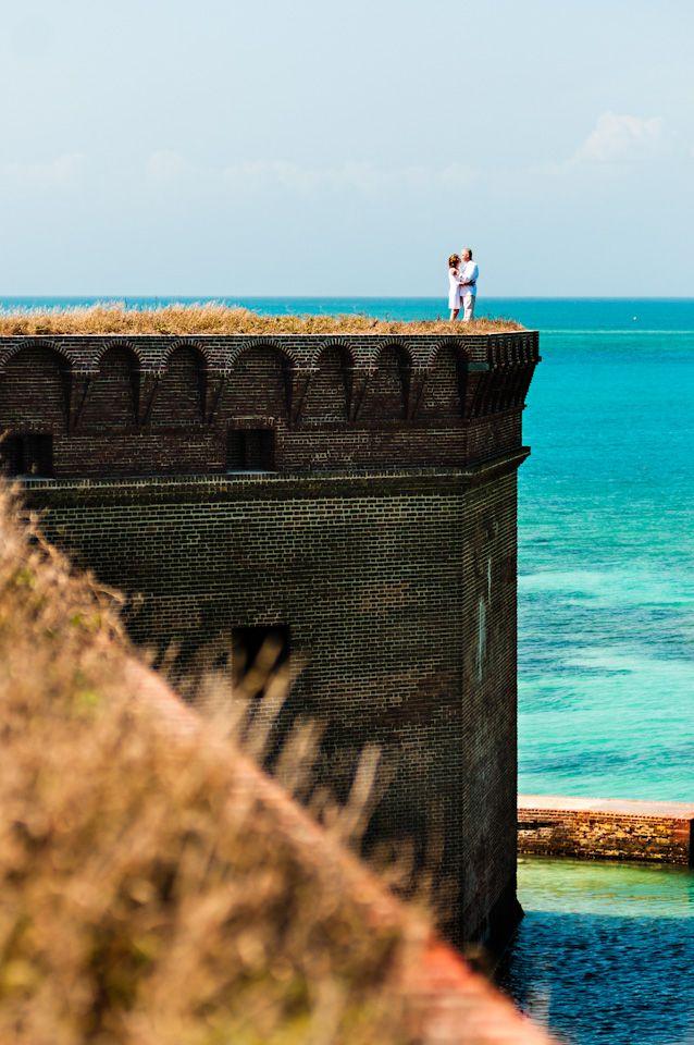 Key West wedding photography Fort Jefferson National Park photos