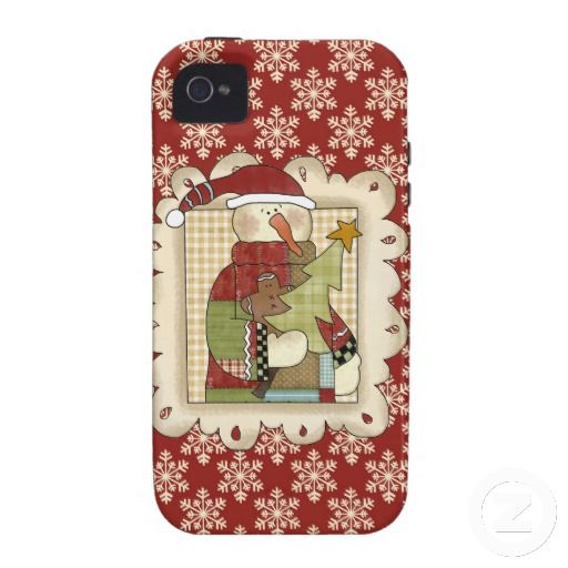 Snowman Case Mate iPhone 4/4s Vibe Case For The iPhone 4
