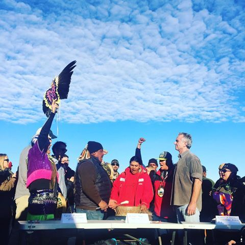Robert F. Kennedy, Jr. president of Waterkeeper Alliance, visited Standing Rock on Tuesday to lend his support and solidarity to the opposition to the Dako…