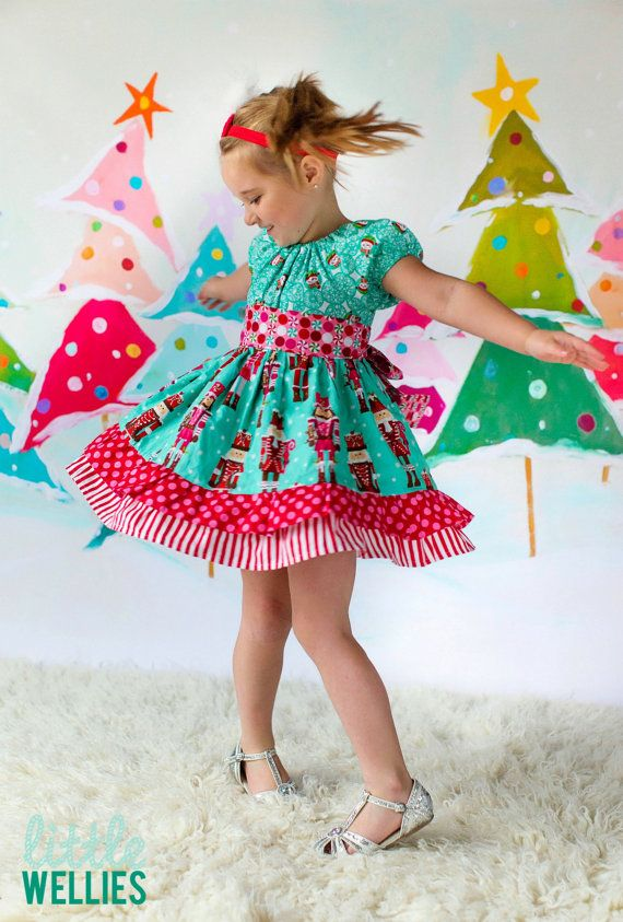 Nutcracker Sweets Christmas Twirly Dress Boutique Outfit