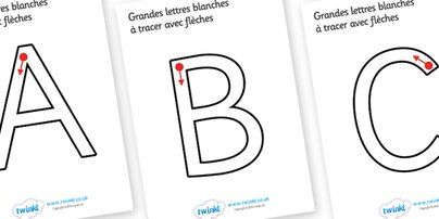 Twinkl Resources >> Large A-Z Tracing Letters (French