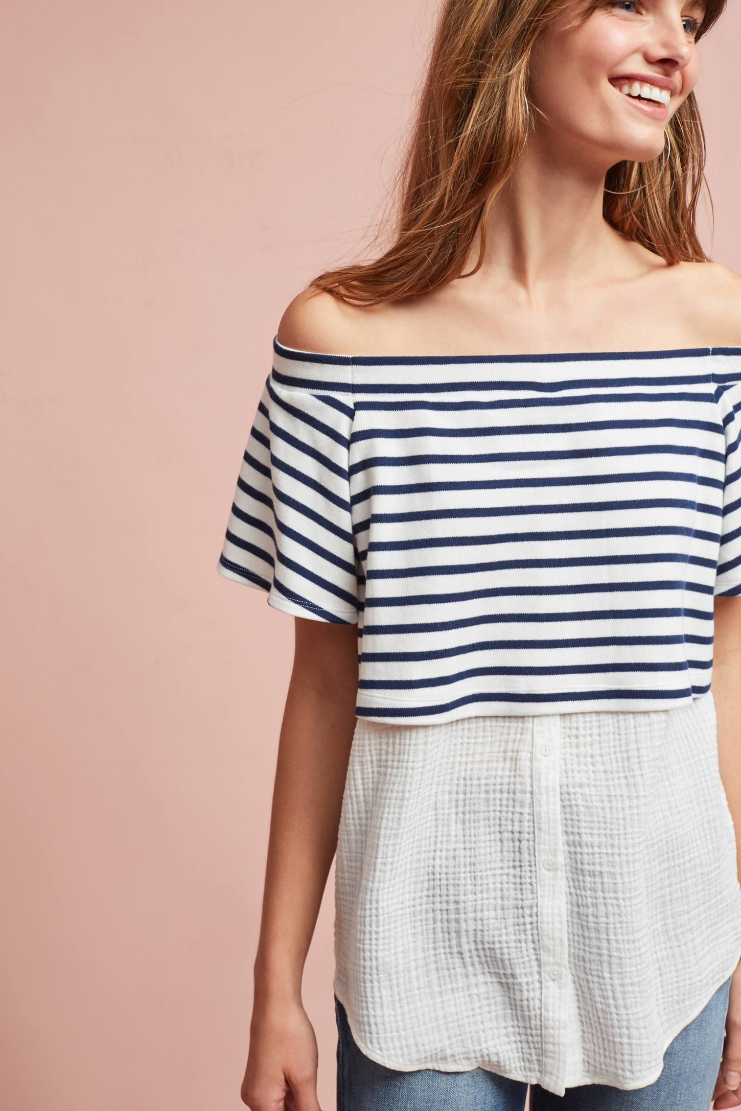 185a88abc7c366 Off The Shoulder Tunic, Anthropologie, Layers, Layering, Anthropology,  Diapers