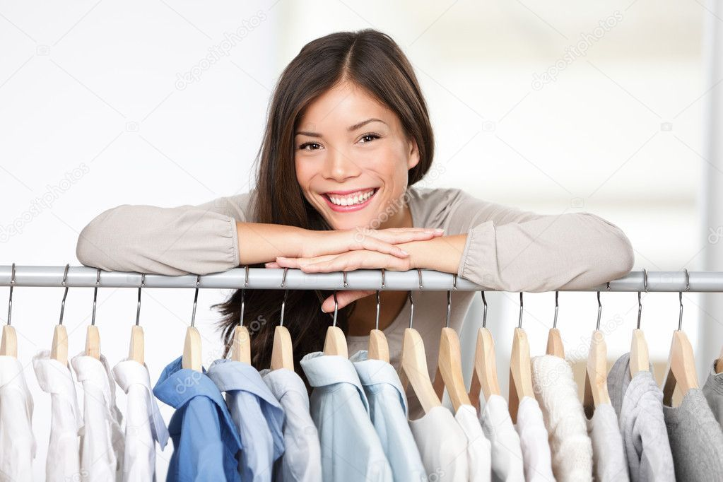 Business owner  clothes store  Stock Photo